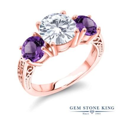 指輪 レディース リング モアサナイト Forever Brilliant ピンクゴールド 加工 ブランド
