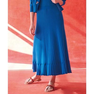 組曲 【Rythme KUMIKYOKU】MarrakechResort ニットスカート (ブルー系)