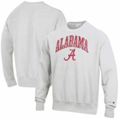 Champion チャンピオン スポーツ用品  Champion Alabama Crimson Tide Gray Arch Over Logo Reverse Weave Pullover Sweatshirt