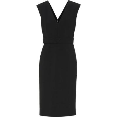 ヴァレンチノガラヴァーニ Valentino / Garavani レディース パーティードレス ワンピース・ドレス Valentino wool-blend dress Black