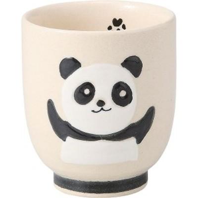 西海陶器 70442 【3個入】 黒パンダ 湯呑