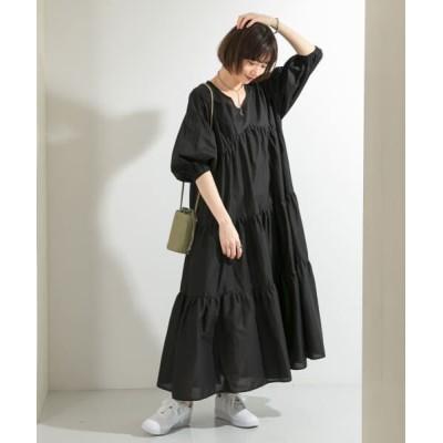 KBF/ケービーエフ 【WEB限定】マキシティアードワンピース BLACK one
