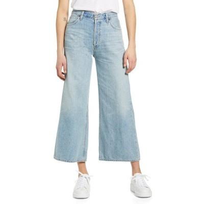 シチズンズ オブ ヒューマニティ デニム ボトムス レディース Serena High Waist Wide Leg Culotte Jeans High Dive