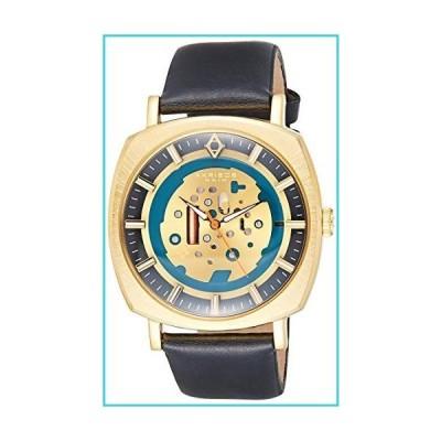 Akribos XXIV Men's Imitation Skeleton Style Watch - Sunray Layered Dial On Antique Genuine Leather Strap - AK826【並行輸入品】