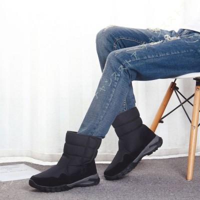 スノーブーツ 裏起毛 スノーシューズ メンズ レデイース 綿靴 スパイク付き 完全防水 防滑 保暖 防寒 雪道 通勤 通学 旅行 マジックテープ 男女兼用 雨の日
