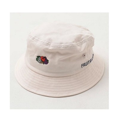 【シルバーバレット】 FRUIT OF THE LOOMロゴ刺繍バケットハット メンズ ホワイト FREE(フリーサイズ) SILVER BULLET