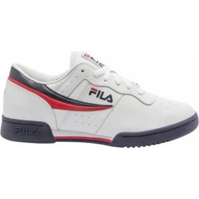 フィラ メンズ スニーカー シューズ FILA Men's Original Fitness Shoes White/Navy/Red