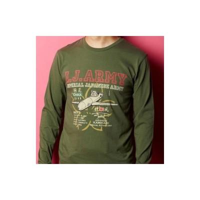 日本軍 ミリタリー 旭日旗 ゼロ戦 日本海軍 I.J.ARMY 特攻機 「桜花」 長袖Tシャツ Tシャツ 長袖 メンズ 5.6オンス オリジナル 和柄