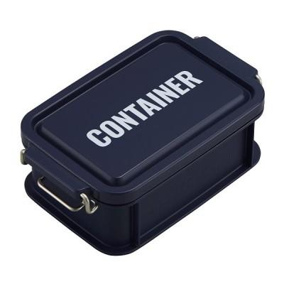 コンテナ ランチボックス お弁当箱 1段 450ml 仕切付 男性 レンジ対応 食洗機対応 おしゃれ ネイビー 日本製 OSK CNT-450