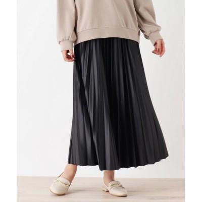 SHOO・LA・RUE / 【S-L】レザーフィールプリーツスカート WOMEN スカート > スカート
