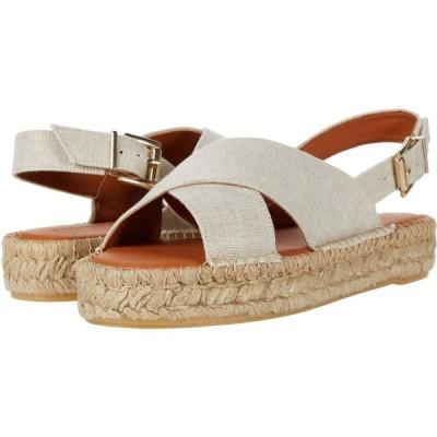 アロハス ALOHAS レディース エスパドリーユ サンダル・ミュール シューズ・靴 Crossed Linen Platform Espadrille Sandal Wheat