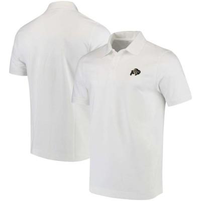 """メンズ ポロシャツ """"Colorado Buffaloes"""" Cutter & Buck Collegiate Advantage DryTec Polo - White"""