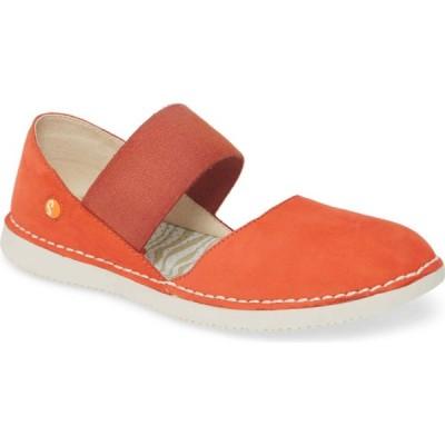 フライロンドン SOFTINOS BY FLY LONDON レディース スリッポン・フラット シューズ・靴 Teja Flat Devil Red Cupido Leather