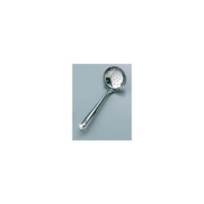 ノーブランド 商品コード:0680410 18-0 穴明 杓子 8.5cm 共柄(カギ付)
