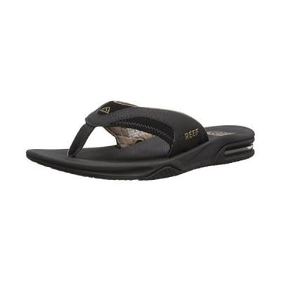 海外取寄品--Reef Fanning Mens Sandals Bottle Opener Flip Flops For Men,BLACK/BRO