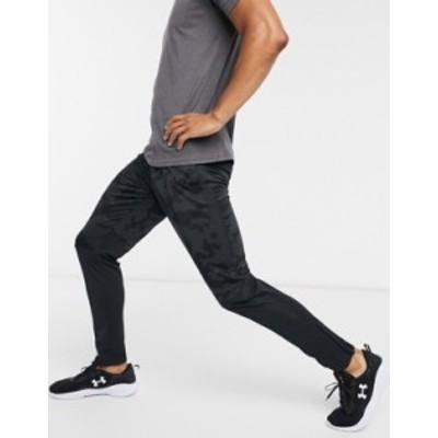 アンダーアーマー メンズ カジュアルパンツ ボトムス Under Armour sportstyle pique track pants in camo Black