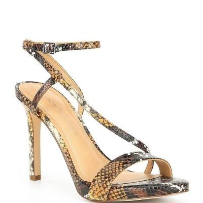 ギブソンアンドラチメール レディース サンダル シューズ Briley Snake Print Asymmetrical Dress Sandals Snake