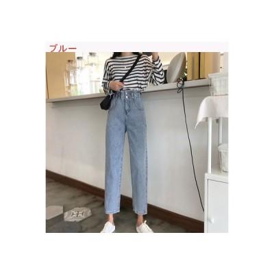 【送料無料】レディース 韓国風 秋 ファッション ハイウエストのジーンズ 気質 着やせ | 364331_A63398-4972066