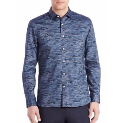 ケント&カーウェン メンズ カジュアル ボタンダウンシャツ Camo Print Shirt