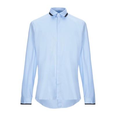 LES HOMMES シャツ アジュールブルー 46 コットン 96% / ポリウレタン 4% シャツ