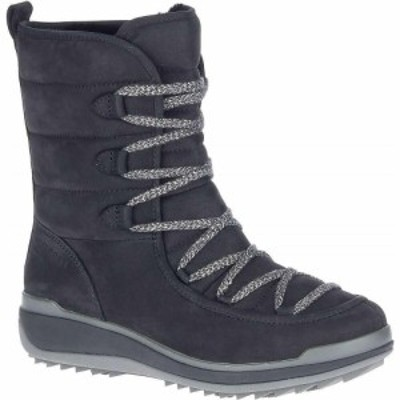 メレル Merrell レディース ブーツ シューズ・靴 Snowcreek Cozy Leather Polar Waterproof Boot Black