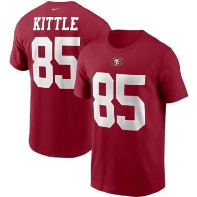 ナイキ メンズ Tシャツ トップス George Kittle San Francisco 49ers Nike Name & Number T-Shirt