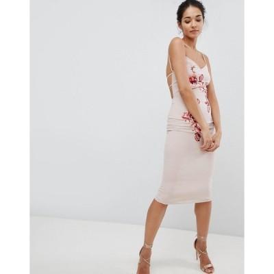 ホープ アンド アイビー レディース ワンピース トップス Hope & Ivy Embroidered Cami Dress Cream