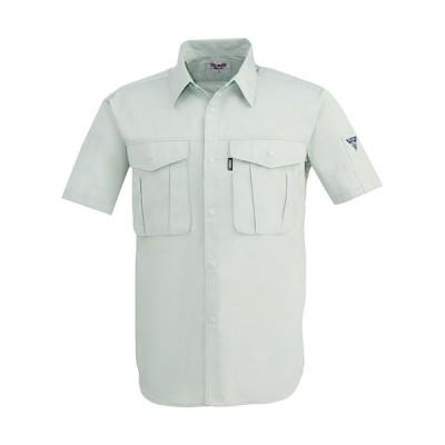 ジーベック(XEBEC) プリーツロンミニ半袖シャツ 20/グレー 1292 作業服 作業着 ワークウエア ワークウェア メンズ レディース
