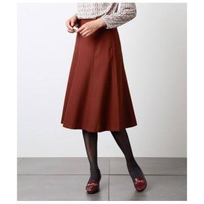 スカート シルク混ジョーゼット 知的フレアスカート