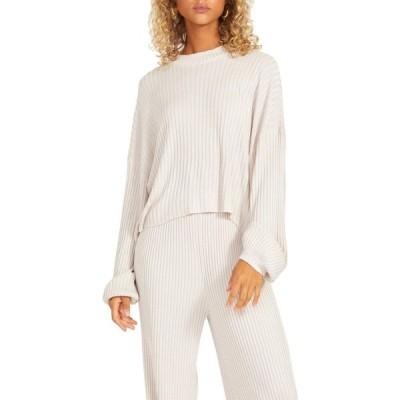 スティーブ マデン BB Dakota x Steve Madden レディース ニット・セーター トップス Rib Current Top - Sweater Rib Knit Mock Neck Top Soft Beige