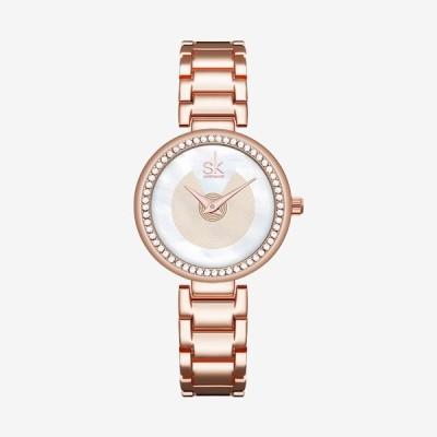 腕時計 レディース ダイヤモンドダイヤル premishengke K0112 プレミアムガレージ 女性用 ウォッチ レディース