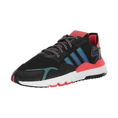 adidas Originals Men's Nite Jogger Sneaker, core Black/FTWR White/Red, 12.5 M US