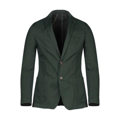 LIU •JO MAN テーラードジャケット ダークグリーン 44 コットン 97% / ポリウレタン 3% テーラードジャケット
