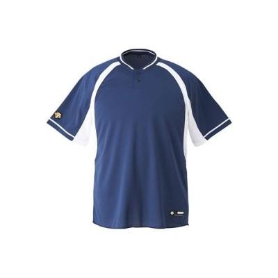 DESCENTE(デサント) 野球 2ボタンベースボールシャツ DB103B ホワイト(NVSW) XO