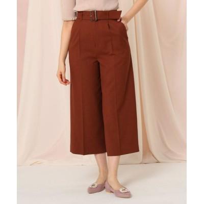 Couture Brooch/クチュールブローチ 【セットアップ可】クロップドワイドパンツ ブラウン(042) 38(M)