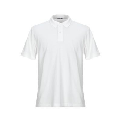 AZUMA ポロシャツ ホワイト S コットン 100% ポロシャツ