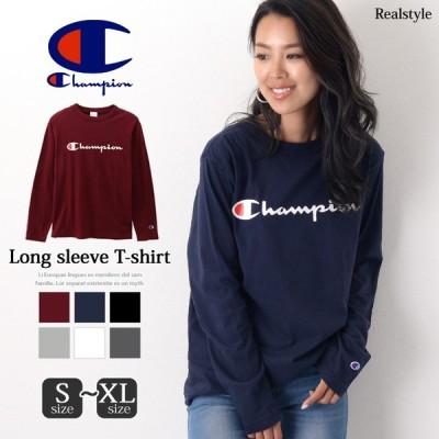 チャンピオン ロングTシャツ ティーシャツ メンズ レディース Champion C3-Q401 ロングスリーブ Tシャツ 長袖 ロンT ロゴT
