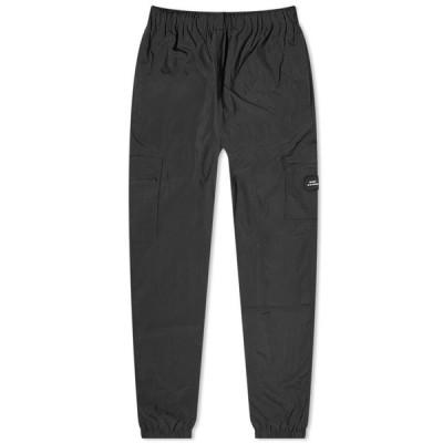 ラスベート PACCBET メンズ スウェット・ジャージ ボトムス・パンツ Nylon Track Pant Black