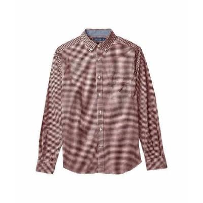 ナウティカ シャツ トップス メンズ Gingham Woven Shirt Zinfandel