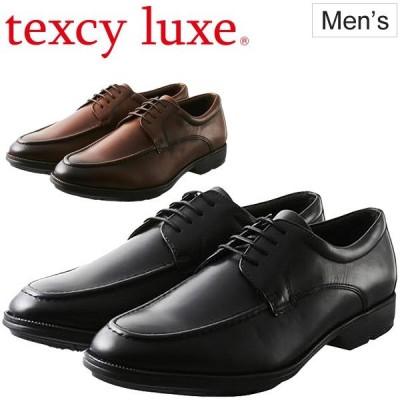 ビジネスシューズ 外羽根式 Uチップ メンズ TEXCY LUXE テクシーリュクス アシックス商事 ASICS TRADING 男性 紳士靴 3E相当/TU-7773【取寄】