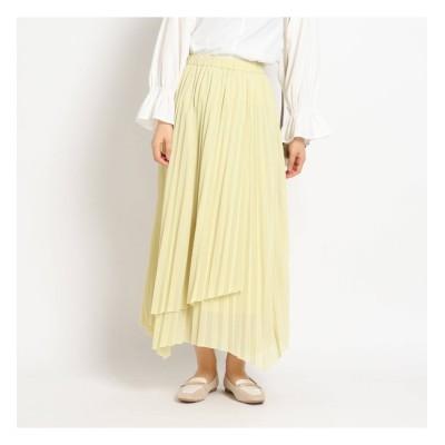 【グローブ/grove】 インスタライブ紹介item【S-LL】シアーカットソーラッププリーツスカート