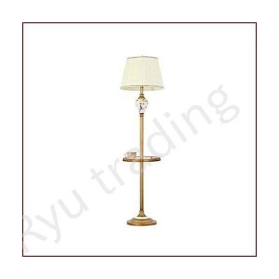 新品HTLLT Nordic Floor Lamp American Retro Living Room with Shelf Lamp Foot Pedal Bedroom Bed Floor Standing High Table Lamp,Tray Foot Swi