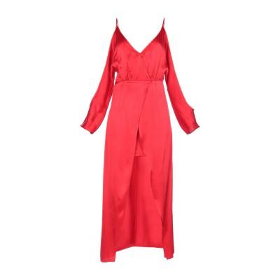 JOVONNA ロングワンピース&ドレス レッド 6 レーヨン 100% ロングワンピース&ドレス