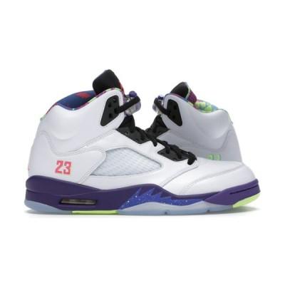 AIR JORDAN 5 RETRO 'ALTERNATE BEL-AIR' エア ジョーダン 5 レトロ オルタネイト ベルエア 【MEN'S】 white/court purple-racer pink-ghost green DB3335-100