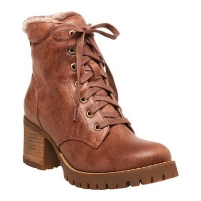 スティーブ マデン ブーツ&レインブーツ シューズ レディース Comfort Ankle Bootie (Women's) Tan Synthetic Leather