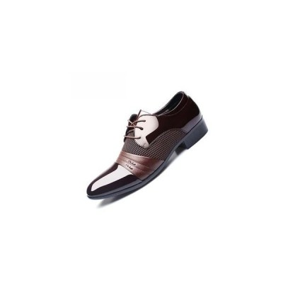 メンズドレスシューズプラスメンズビジネスフラットシューズブラックブラウン通気性の低いトップメンズフォーマルオフィスの靴