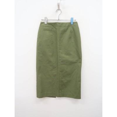 JOURNAL STANDARD relume チノタイトスカート 緑 レディース Aランク 36 [委託倉庫から出荷]