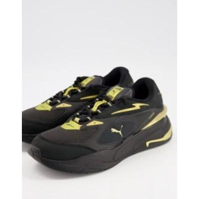 プーマ メンズ スニーカー シューズ Puma RS-Fast sneakers in black and gold Puma black