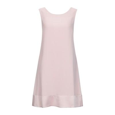 ANTONELLI ミニワンピース&ドレス ピンク 38 アセテート 78% / レーヨン 22% ミニワンピース&ドレス