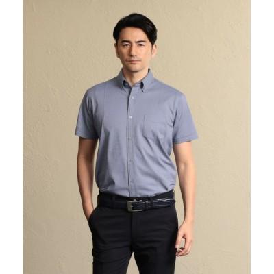 EPOCA UOMO/エポカ ウォモ ストライプジャージー ボタンダウンシャツ ブルー6 44